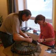 Bau einer schamanischen Trommel